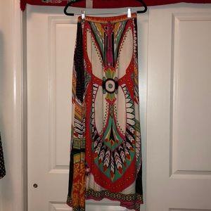 Flying Tomato size medium print cotton maxi skirt